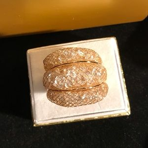 New Macy's Large Gorgeous Gold Statement Ring